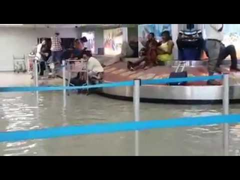 Haiti's main airport in Port-Au-Prince was inundated with flood waters Tuesday 5/02/17
