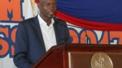 President Jovenel Moïse in the first Youth Forum at Les Cayes