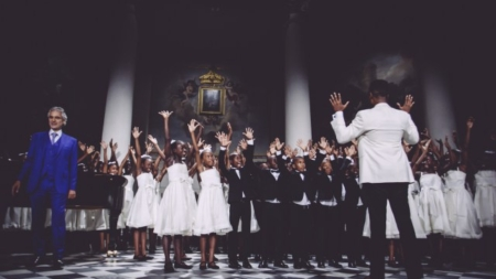 Dsquared2 Dresses Andrea Bocelli's 'Voice of Haiti' Chorus