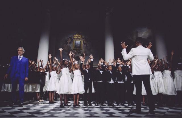 Dsquared2 Dresses Andrea Bocelli's 'Voice of Haiti' Chorus