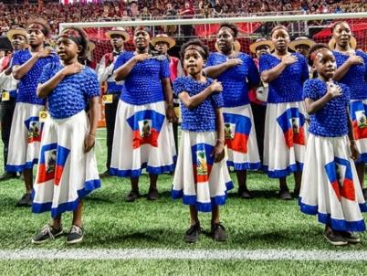 Haitian Orphan Choir leads national anthem at Atlanta United match